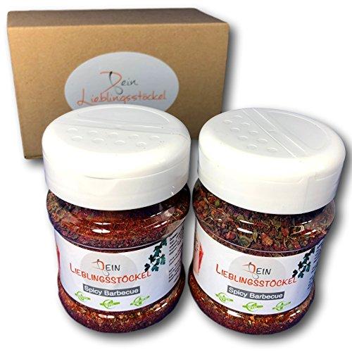 Dein Lieblingsstöckel - Spicy Barbecue Rub - Premium Gewürzmischung   Zum Grillen & Marinieren von Fleisch   Für mehr BBQ-Geschmack & pikantes Aroma   Ohne Geschmacksverstärker