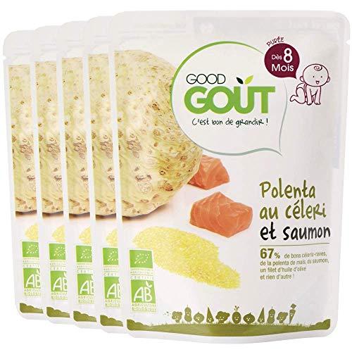 Good Goût - BIO - Céleri polenta saumon dès 8 mois 190 g - Lot de 5