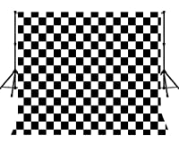 LYLYCTY 9x6フィート チェッカーバックドロップ チェッカーパターン チェスボード テクスチャ グリッド 写真背景 コットン ポールポケット付き 装飾 バナー フォトブース スタジオ小道具 MBZYLY53