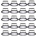 20 Pack 200W UFO LED High Bay Light, Factory Warehouse Industrial Lighting lamp, 20000 Lumen, Cool White 6000-6500K, IP65, Commercial Bay Lighting, for Garages Basements Exhibition Halls Stadiums Gym