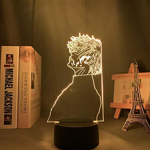 Lámpara De Ilusión 3D Luz De Noche LED Tokyo Ghoul Ken Kaneki Lámpara 3D Para Decoración De Dormitorio Luz De Noche Luz De Sueño Para Niños Regalo De Cumpleaños
