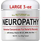 Neuropathy Cream - Maximum Strength Relief Cream for Feet, Hands, Legs, Toes,Support - Large 3 oz Ultra Strength Arnica, MSM, Menthol, Soothing, Fast-Acting