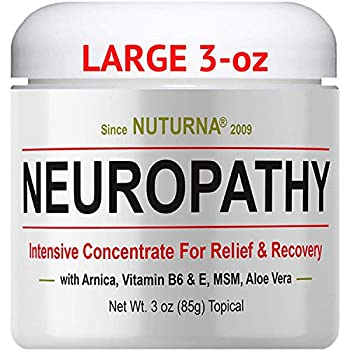 Neuropathy Nerve Relief Cream - Maximum Strength Relief Cream for Feet Hands Legs Toes Reliever Large 3 oz Ultra Strength Arnica MSM Menthol Soothing Fast-Acting Anti-Inflammatory