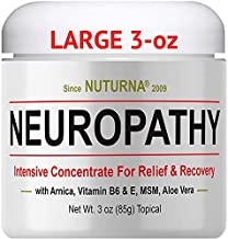 Neuropathy Nerve Relief Cream - Maximum Strength Relief Cream for Feet, Hands, Legs, Toes Reliever, Large 3 oz Ultra Strength Arnica, MSM, Menthol, Soothing, Fast-Acting Anti-Inflammatory