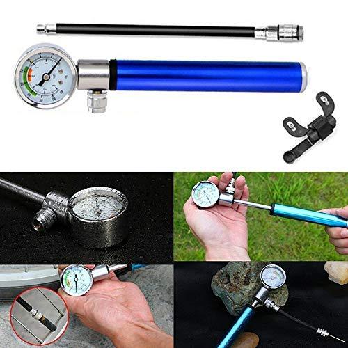 koiry Hochdruck Analog Mountain Bike MTB Luftfederung Dämpferpumpe Tragbarer Mini Luftpumpe – Schwarz, 1 - 2