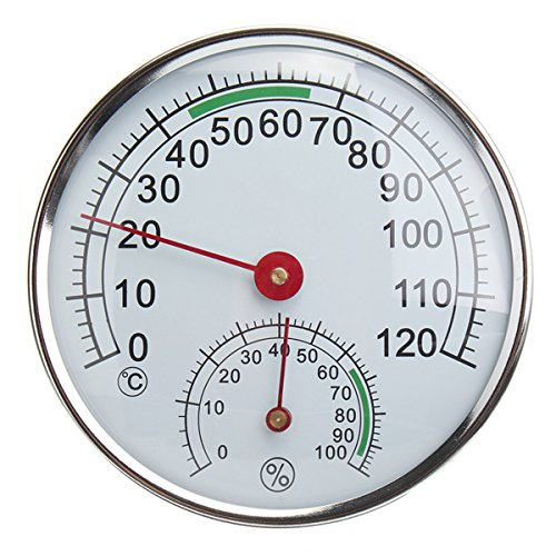 Termometro igrometro in acciaio inossidabile per misuratore di umidità della temperatura ambiente della sauna