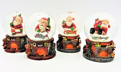 Geschenkestadl 4 Stück Schneekugeln Nikolaus Ø 4,5 cm Weihnachtsmann