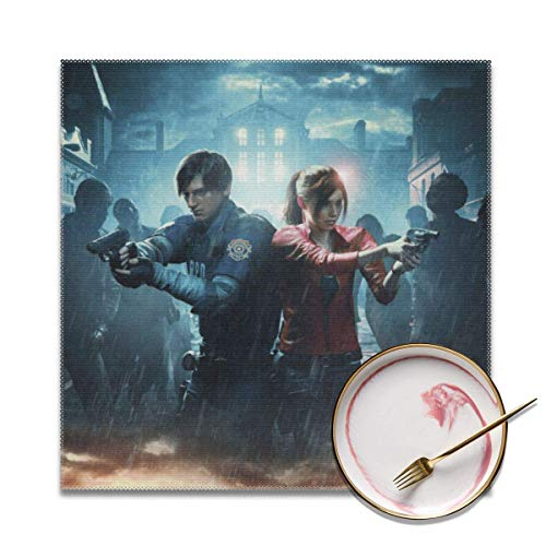 Alvahw Juego Resident_Evil - Manteles Individuales Lavables Antideslizantes, Posavasos para decoración de...