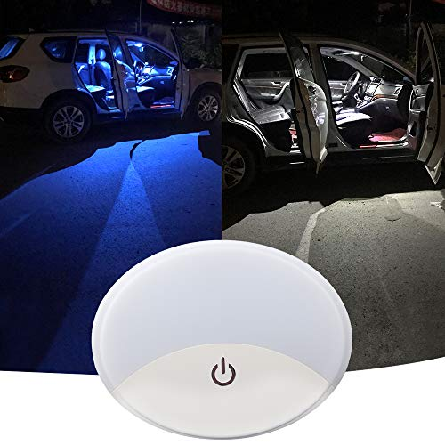 Automóvil Luces de techo para techo de automóvil Accesorio de dos colores con USB universal inalámbrico Recargable 10 LED Cúpula de techo para automóvil interior y exterior de automóvil bote remolque