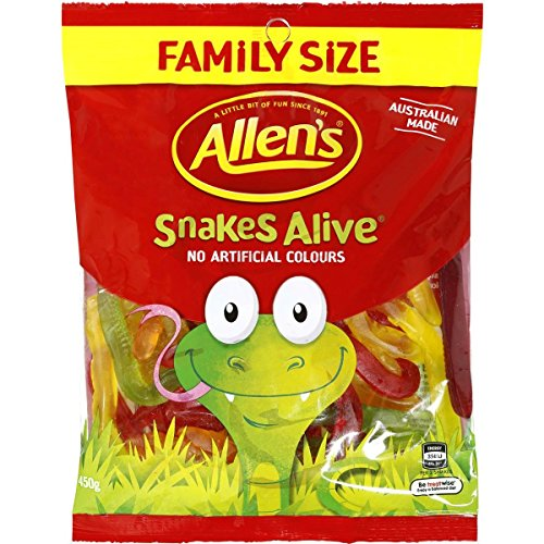 Allen's Snakes Alive 460g Family Size (Made in Australia)