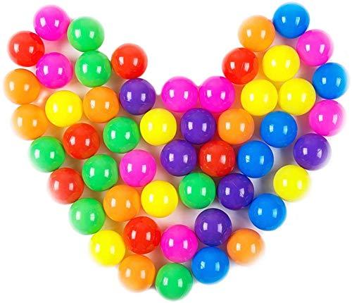 ausuky 100 bolas de juego de plástico suave, no tóxicas libres de ftalatos, a prueba de aplastamientos, juguetes para bebés y niños