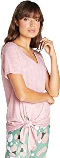 Rockwear Activewear Women's Wanderlust Longline Tie Side Tee Rose Quartz 14 from Size 4-18 for T-Shirt Tops