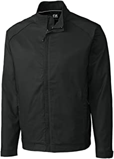 Cutter & Buck Men's CB Weathertec Blakely Full Zip, Black, Medium