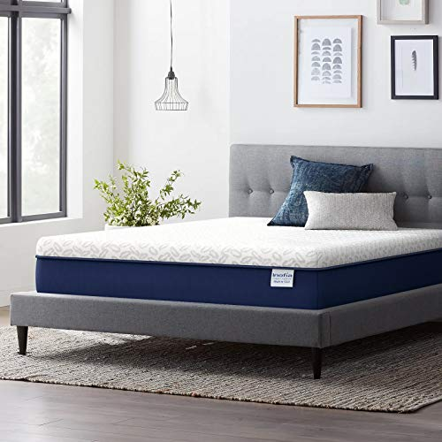King Mattress 14 Inch, Inofia Cooling Copper Adaptive Spring Hybrid Mattress, Motion Isolation Pocket Coil with Memory Foam, Mattress-in-a-Box, Pressure Relief Supportive, Medium Firm- Made in USA