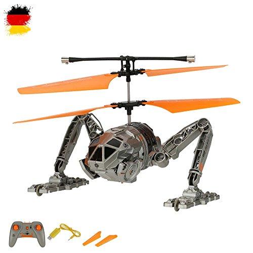 HSP Himoto 2in1 RC Ferngesteuerter Roboter-Hubschrauber Quadrocopter und Fahrzeug, Helikopter, Auto, Land- und Flugtauglich, Neu OVP