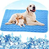 PETPLUS Dog Cooling Mat, Pet Cooling Pads for Dogs - Dog Mats Dog Accessories Dog Cooling Vest to Help Your Pet Stay Cool - Avoid Overheating, Ideal for Home & Travel (Blue Cooling Mat)