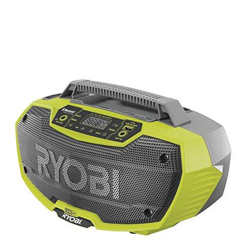 Ryobi R18RH-0 - Radio estéreo con Bluetooth, Color Verde y Gris
