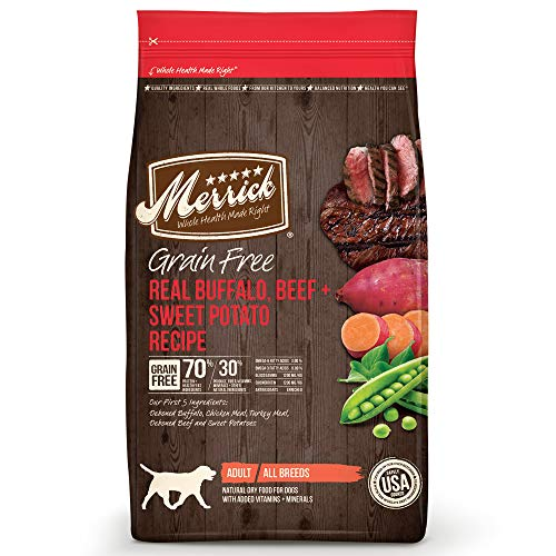 Merrick Grain Free Dry Dog Food Buffalo, Beef and Sweet Potato