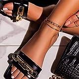ypyrhh Zapatilla de Plataforma con cuña para Mujer,Pantuflas Planas de Punta Abierta, Medias Pantuflas Palabra-Negro_36,Zapatillas de Estar por Casa de Mujer/Hombre