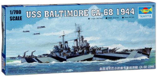 Trumpeter 1:700 - Modedllino Nave da Guerra USS Baltimore CA-68 1944 (TRU05725)