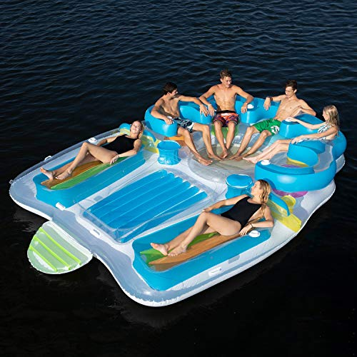 SunPleasureInflatable Tropical Tahiti Floating Island for up to 7 People
