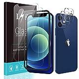 LϟK [4 Pezzi] 2 Pezzi Pellicola Protettiva Compatibile con iPhone 12 Mini 5G 5.4'' Vetro Temperato + 2 Pezzi Fotocamera Posteriore Pellicola, Kit d'Installazione/Senza Bolle Schermo Protettivo