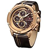 NAVIFORCE military waterproof watch,a nice mix of sport and casual , fashion big face outlook with multifunction , matches jeans , T-shirt or suits very well Sports analog quartz watches: Japanese original quartz movement, precise and accurate time k...