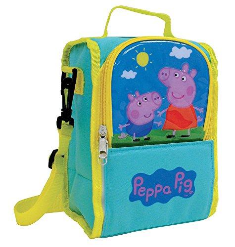 Jemini Peppa Pig Sac Isotherme à Bandoulière Bagage pour Enfant, 25 cm, 5 L, Bleu