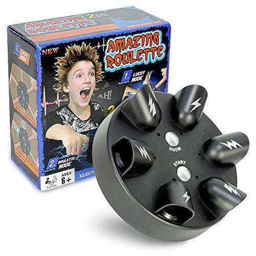 Juguetes de Juegos Familiares, Juego impactante de Ruleta con Dedos, Juego de Ruleta eléctrica Lucky Finger (2 Modos de Juego, 6 Dedos)