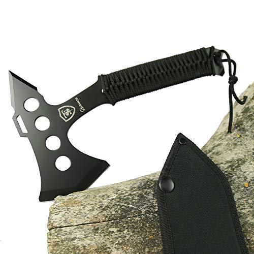 TS Knife TOMAHAWK 273 Hacha táctica | Longitud de la hoja: 16 cm | Hacha táctica de supervivencia para aventuras de supervivencia