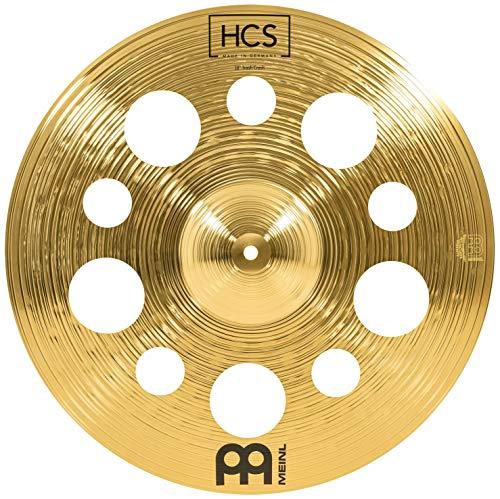 Meinl Cymbals HCS Trash Crash Becken 18 Zoll mit Löchern – für Schlagzeug – Messing, traditionelles Finish, HCS18TRC