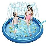 Pkfinrd Espolvoree y Salpicaduras de Agua Play Set Set Summer Spray Water Juguetes Inflables Niños Sprinkler Pad Summer para niños Splash Fiesta (Color : B, Size : 150CM)