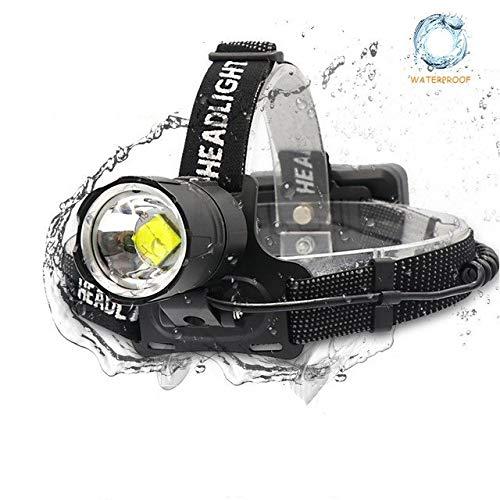 SHIYIMY Linternas Frontales Super Brillante LED Linterna Linternas Faro acampa de la Pesca del Faro de la Linterna de Alta Potencia de la lámpara Principal con Zoom USB iluminación