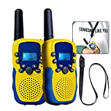 Walkie Talkie, T-388 Niños al Aire Libre Radio,Alcance de 3 Millas, 8 Canales,Pantalla LCD y Linterna Incorporado