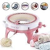 Máquina de tejer MIAOKE, máquina de agujas rotativas de 48 agujas de telar para adultos y niños, juguetes de bricolaje de gran tamaño, tejidos a mano, como sombreros, bufandas, guantes