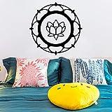 TYLPK Etiqueta engomada moderna de Lotus Papel pintado de vinilo impermeable Decoración para el hogar Etiqueta de la pared removible Tatuajes de pared Accesorios para el hogar