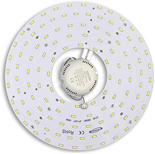 Universo - Circolina Corona Led Tonda con Magnete 5060Lm Modulo Circolare Ricambio Neon per Plafoniere Luce Naturale 4000k 46 watt 265v