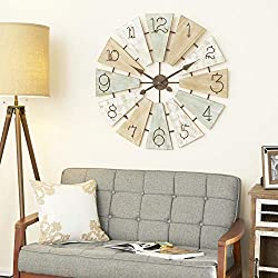 Deco 79 Wall Clock, Extra Large, Multi