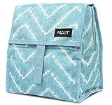 PackIt Freezable Lunch Bag with Zip Closure, Aqua Tie Dye