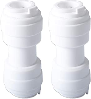 5/16' x 5/16 'Water Line Tube Connector for GE Refrigerator,Repalce WR02X11330 Pack of 2