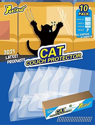Petotw Paquete de 10 protectores de muebles para gatos, disuasivo de arañazos, para sofás, puertas, paredes, colchón, asiento de coche