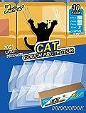 Petotw Protezione Divano Graffi Gatto, Confezione Da 10, Più Grande E Più Spesso Antigraffio Gatto Divano, Per Divano, Porta, Pareti, Materasso, Auto