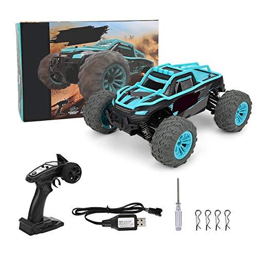 POCREATION Carro de controle remoto 1/14 2,4 G, impermeável, brinquedos, caminhões, RC, brinquedo, elétrico, Off Road, caminhão com controle remoto para crianças e adultos (azul)