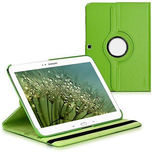 kwmobile 360° Case Compatible with Samsung Galaxy Tab 3 10.1 P5200/P5210 - PU Leather Tablet Cover with Stand Function - Green