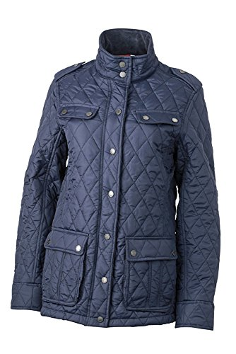 James & Nicholson JN1071 Laddies' Diamond Quilted Jacket Modieuze gewatteerde jas voor business en vrije tijd