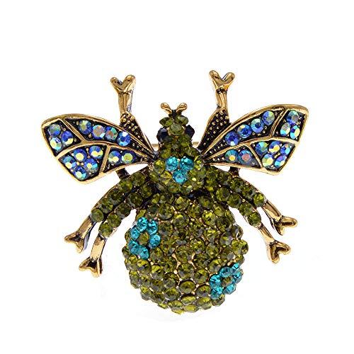 GLKHM Broche Damas Vintage Moda Abeja Broches Unisex Broche De Insectos Accesorios