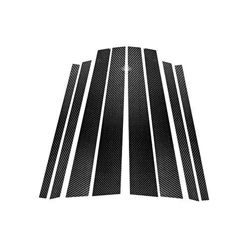 Lfldmj Interior de Fibra de Carbono, Columna B, modificación de Fibra de Carbono, Cubierta Protectora, Pegatinas de Ajuste, para BMW X5 E70 2008-2013