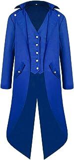 Modaworld Giacca da Uomo Cappotti, Lunga Gotico Steampunk Tuxedo Vintage Cappotto Tailcoat Cappotto Uniforme Costume Outwe...