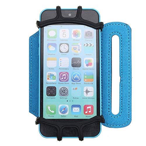 Sprots brazaletes ajustable bolso del brazo del teléfono aplicable 4-6 pulgadas de 180 grados Teléfono;Correr al aire libre giratorio Bolsa Muñequera giratoria teléfono Negro Azul disfrutar de su vida
