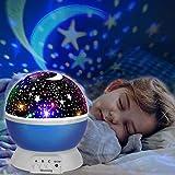 Etoiles Projecteur, innislink Lampe de Projection Nuit Étoilée Veilleuse Enfants Rotative Nuit Romantique Projection Lampe...